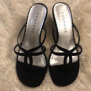 Rampage Black Satin Shoes Size 7